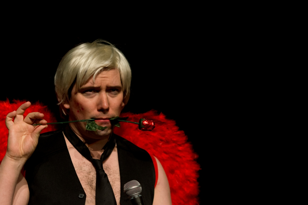ABCs of Love2, Adam Bailey as Adult Baby Cupid, pic by Fee Gunn